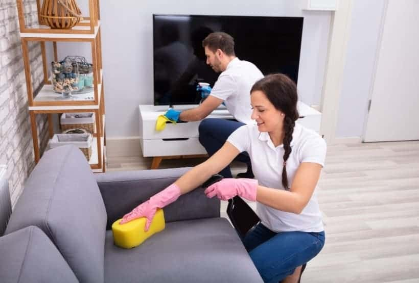 how to clean fabric sofa without water