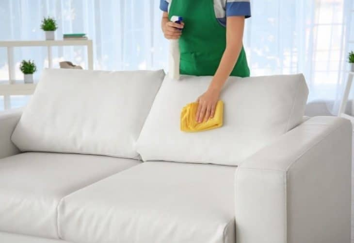 how to disinfect leather couch