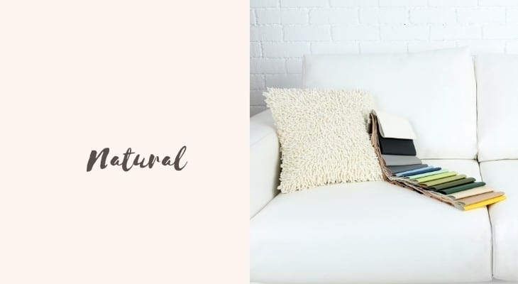 natural material for a couch