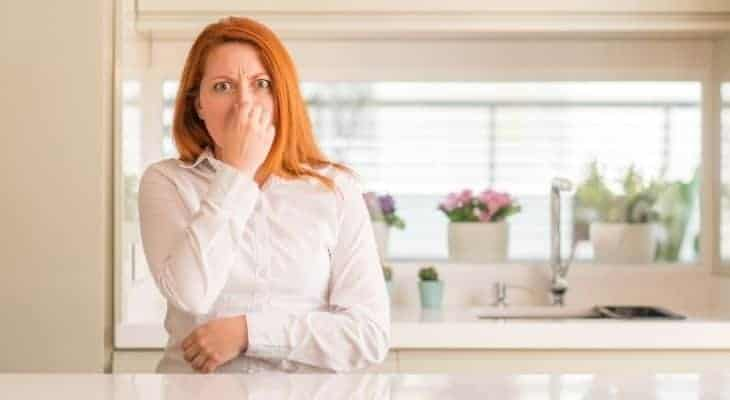 how to get rid of bleach smell in nose
