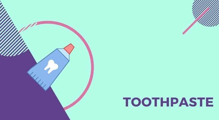 using toothpaste