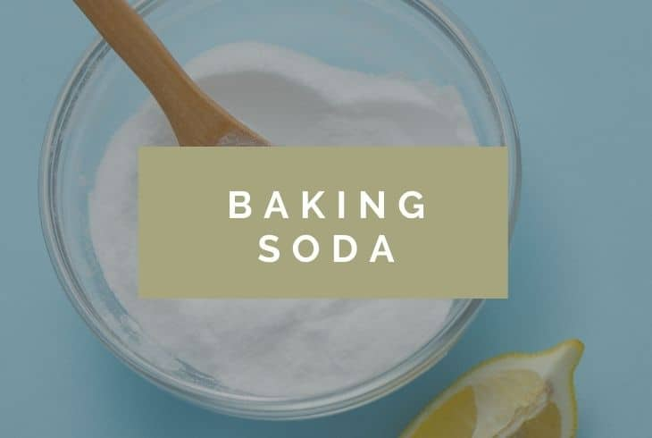 baking soda to clean polyester